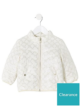 river-island-mini-mini-girls-monogram-padded-coat-cream