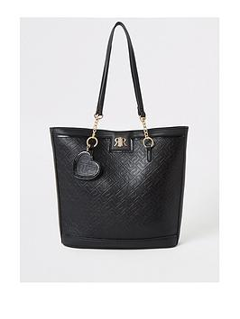 river-island-girls-black-ri-monogram-shopper-bag