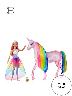 barbie-magical-lights-unicorn-with-princess-doll