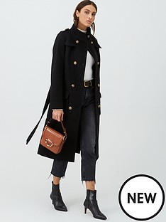 v-by-very-funnel-neck-military-coat-black