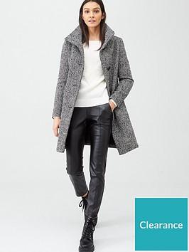 v-by-very-funnel-neck-herringbone-coat-blackwhite