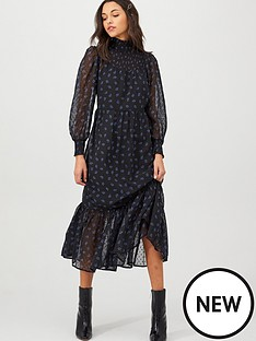 v-by-very-floral-shirred-high-neck-midi-dress-blackfloralnbsp
