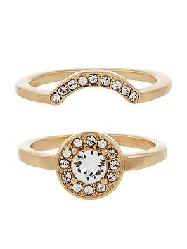 accessorize-acccessroize-2-x-swarovski-interlocking-gold-ring