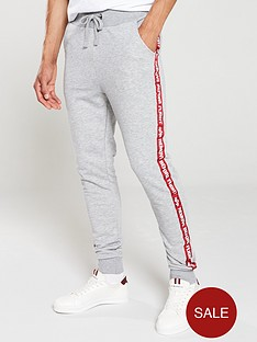 1600373629: ALPHA INDUSTRIES Taped Joggers - Grey Marl