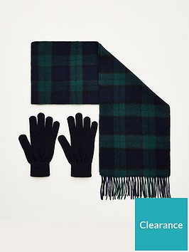 barbour-scarf-and-glove-gift-set-green