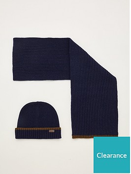 barbour-cromer-beanie-amp-scarf-gift-set-navy
