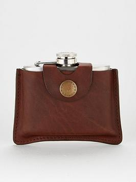 barbour-hipflask-tan