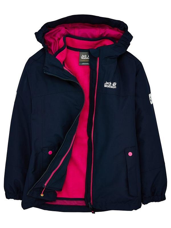 niska cena spotykać się niesamowite ceny Girls Iceland 3-in-1 Jacket - Navy/Pink