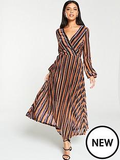 v-by-very-lurex-wrap-stripe-blouson-sleeve-midaxi-dress-stripe
