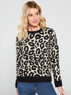 superdry-lisa-leopard-knit-jumper-brown