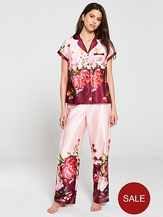b-by-ted-baker-serenity-satin-short-sleeve-revere-pyjama-top-pink