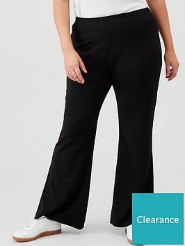 v-by-very-curve-crepe-skinny-kick-flare-trousers-black