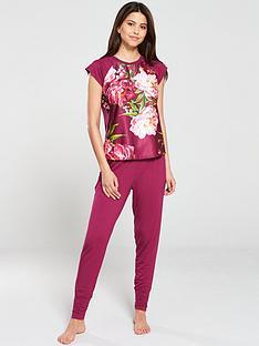 5fefc70d48ba84 B By Ted Baker Serenity Jersey Short Sleeve Pyjama Top - Pink