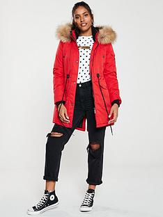 superdry-nadare-microfibre-parka--nbsp-red