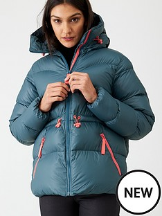 hunter-original-a-line-padded-jacket-dark-teal