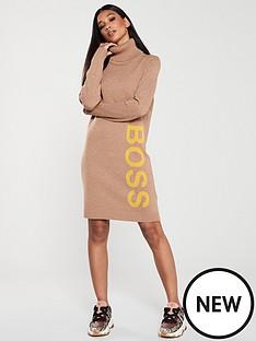 boss-casual-turtle-neck-dress-oatmeal