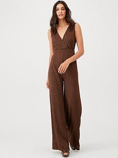 v-by-very-lurex-v-jumpsuit-bronze