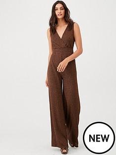 v-by-very-lurex-v-jumpsuit-bronze