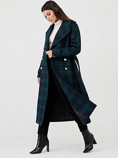 tommy-hilfiger-belle-wool-blend-military-coat-black