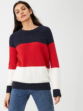 tommy-hilfiger-makayla-crew-neck-sweater-red