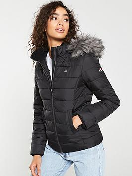 tommy-jeans-essential-hooded-down-jacket-black