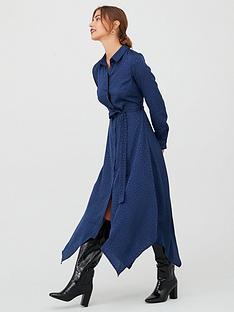 v-by-very-jacquard-hanky-hem-shirt-dress-navy