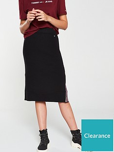 tommy-jeans-taped-detailing-skirt-black