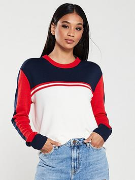 tommy-jeans-colour-block-sweater-multi