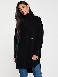 tommy-jeans-turtle-neck-split-sweater-black