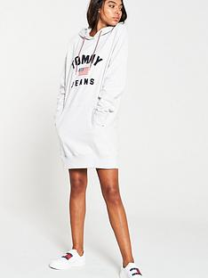 tommy-jeans-logo-hoodie-dress-grey