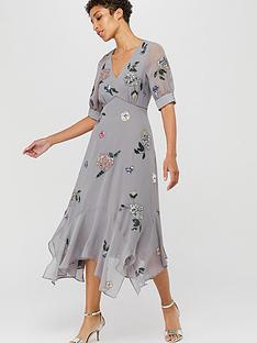 monsoon-hariette-embellished-hanky-hem-dress-grey