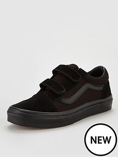 vans-old-skool-childrens-trainers-black