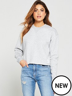 calvin-klein-jeans-raw-hem-crew-neck-sweater-grey