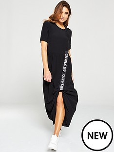 calvin-klein-jeans-logo-strap-midi-dress-black