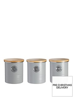 typhoon-living-tea-coffee-and-sugar-storage-canisters-ndash-grey