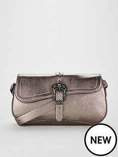 v-by-very-carli-western-buckle-detail-shoulder-bag-pewter