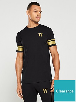 11-degrees-double-stripe-t-shirt-black