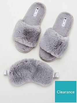 v-by-very-bayleenbspfaux-fur-mask-slipper-box-grey