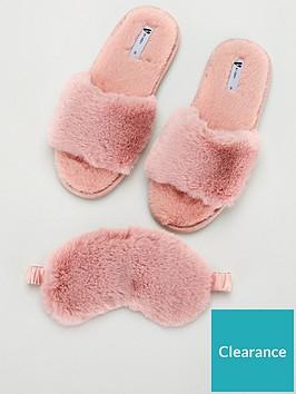 v-by-very-bayleenbspfaux-fur-mask-slipper-box-pink
