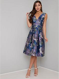 chi-chi-london-james-v-neck-printed-dress-multi