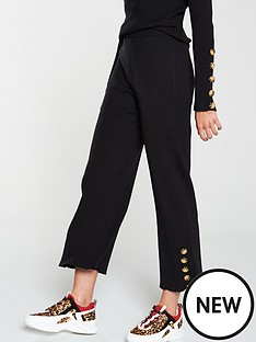 native-youth-the-layla-knitted-buttoned-cuff-trouser-black