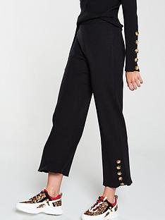 native-youth-the-layla-knitted-buttoned-cuff-trouser-co-ord-black