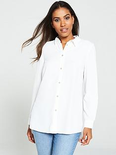 v-by-very-longline-buttonnbspfront-blouse-white