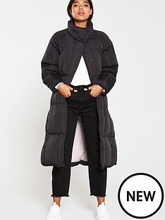 native-youth-the-indira-longline-padded-coat-black
