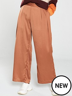 native-youth-the-sofia-luxe-wide-leg-trouser-rust