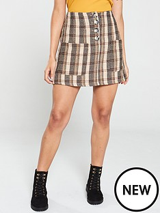 native-youth-the-madison-check-mini-skirt-beige