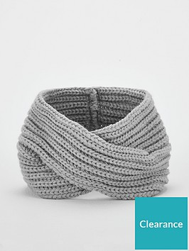 v-by-very-knitted-crossover-headband-grey