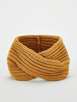 v-by-very-knitted-crossover-headband-mustard