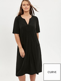 evans-notch-neck-dress--black