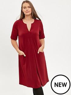 evans-notch-neck-dress-red